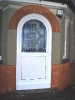 Curved White PVCu Door